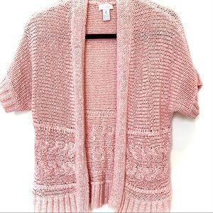 CHICO'S Loose-Knit Buttonless Cardigan